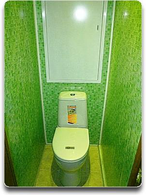 Как отделать пластиком туалет